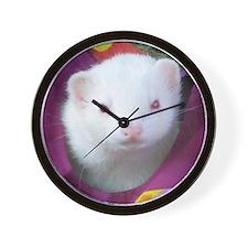It's Ferret Time (Coconut) Wall Clock
