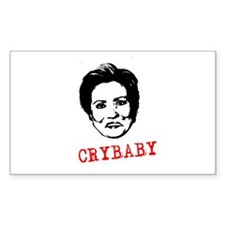 Hillary Crybaby Rectangle Decal