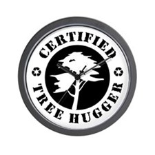 Certified Tree Hugger Wall Clock