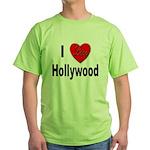 I Love Hollywood Green T-Shirt