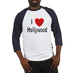 I Love Hollywood (Front) Baseball Jersey