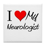 I Heart My Neurologist Tile Coaster