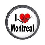 I Love Montreal Quebec Wall Clock