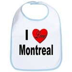 I Love Montreal Quebec Bib