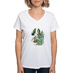 Buff-bellied Hummingbirds Women's V-Neck T-Shirt