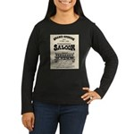 Tombstone Saloon Women's Long Sleeve Dark T-Shirt