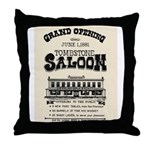 Tombstone Saloon Throw Pillow