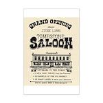 Tombstone Saloon Mini Poster Print