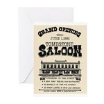 Tombstone Saloon Greeting Cards (Pk of 20)