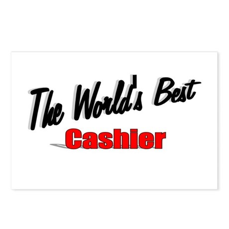 "'The World's Best Cashier"" Postcards (Package of 8"