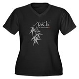 Tai Chi Bamboo<br> Women's Plus Size V-Neck Dark T