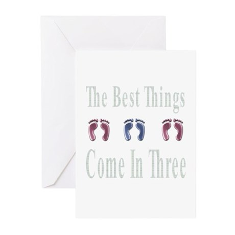 best things come in three Greeting Cards (Pk of 20