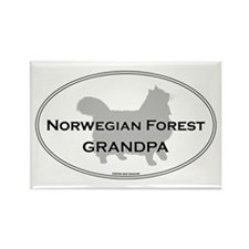 Norwegian Forest Grandpa Rectangle Magnet
