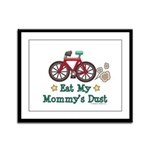 Mommy's Dust Cycling Bicycle Framed Panel Print