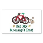 Mommy's Dust Cycling Bicycle Rectangle Sticker