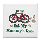 Mommy's Dust Cycling Bicycle Tile Coaster