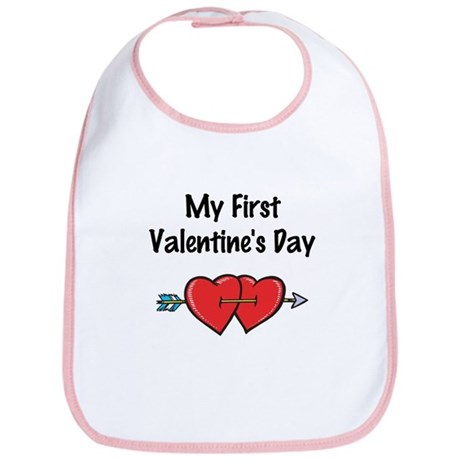 My First Valentine's Day Bib