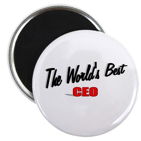 """The World's Best CEO"" 2.25"" Magnet (100 pack)"