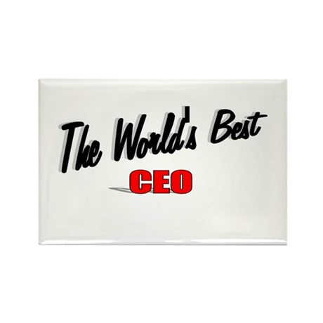 """The World's Best CEO"" Rectangle Magnet (10 pack)"