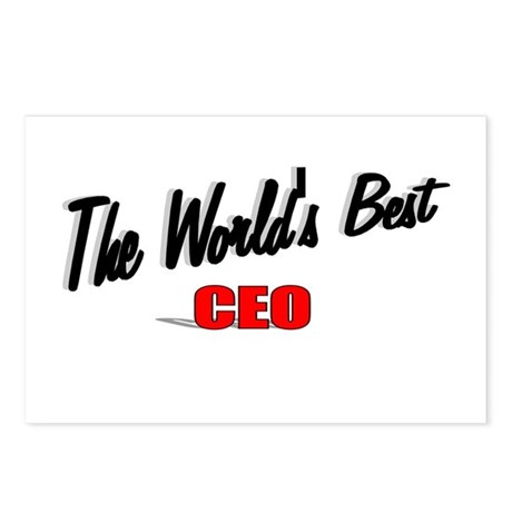 """The World's Best CEO"" Postcards (Package of 8)"