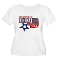 USAF HERO (son) Women's Plus Size Scoop Neck Tee
