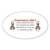 Alert 2 Oval Decal