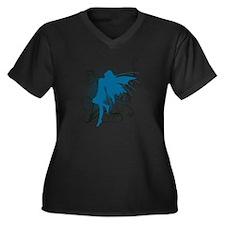 fairy Women's Plus Size V-Neck Dark T-Shirt