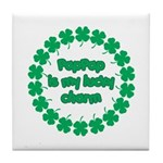 PapPap is My Lucky Charm Tile Coaster