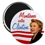 Montana votes Clinton Magnet