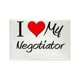 I Heart My Negotiator Rectangle Magnet