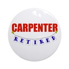 Retired Carpenter Ornament (Round)
