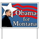 Obama for Montana Yard Sign
