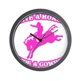 Save a Horse. Ride a Cowboy. Wall Clock