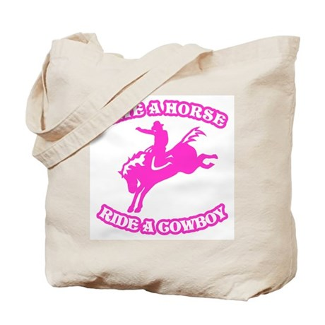 Save a Horse. Ride a Cowboy. Tote Bag