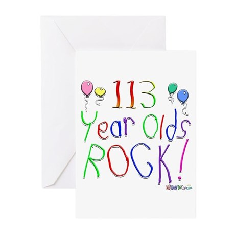 113 Year Olds Rock ! Greeting Cards (Pk of 10)