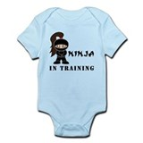 Brunette Ninja In Training Infant Bodysuit