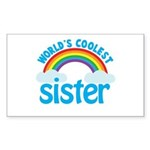 world's coolest sister Rectangle Sticker
