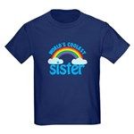 world's coolest sister Kids Dark T-Shirt