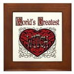 World's Best Witch Framed Tile