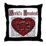 World's Best Witch Throw Pillow
