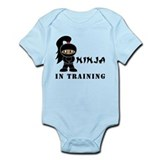 Dark Hair/Skin Ninja In Training Infant Bodysuit