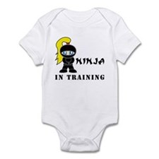 Blonde Ninja In Training Infant Bodysuit