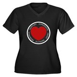 CHD SUPPORT Women's Plus Size V-Neck Dark T-Shirt