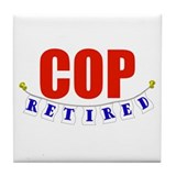 Retired Cop Tile Coaster