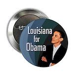 Louisiana for Barack Obama Button