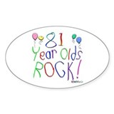 81 Year Olds Rock ! Oval Decal