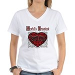 World's Best Temptation Women's V-Neck T-Shirt