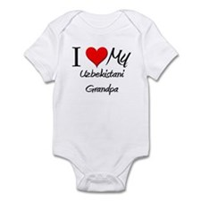 I Love My Uzbekistani Grandpa Infant Bodysuit