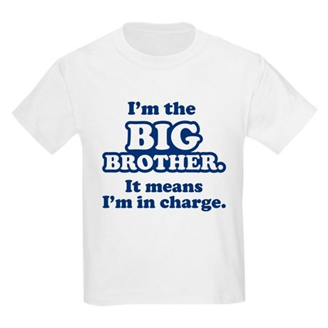 Big Brother in Charge Kids Light T-Shirt