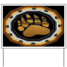 BEAR PAW IN BEAR PRIDE DESIGN Yard Sign